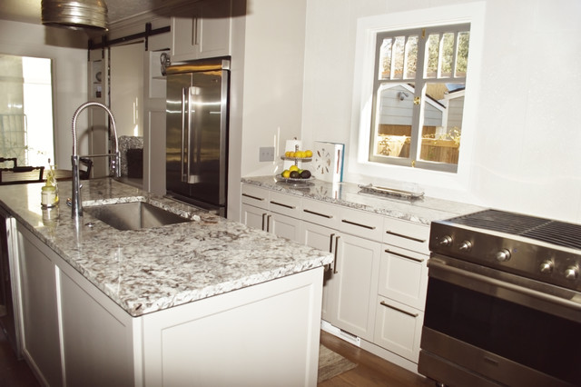 stainless steel kitchen cabinets manufacturers bench seating lennon granite - transitional oklahoma city ...