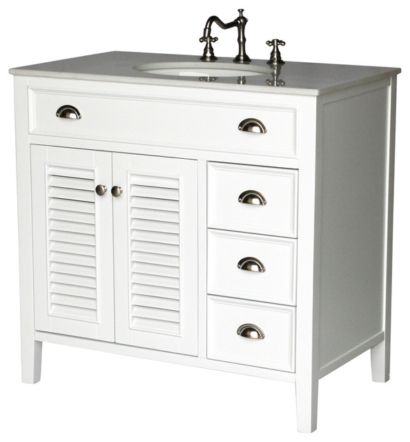 36 Cottage Style Single Sink Bathroom Vanity Model 2603 W Beach Style Bathroom Vanities And Sink Consoles By Chinese Arts Inc