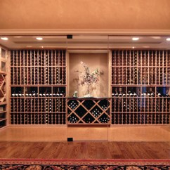Sofas With Storage Under Sofa And Chairs Metairie All Heart Redwood Glass Enclosed Wine Cellar - Modern ...