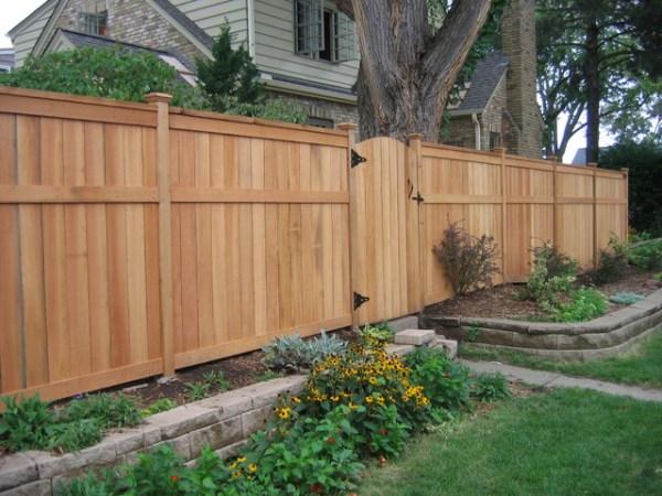 privacy fences - country garden
