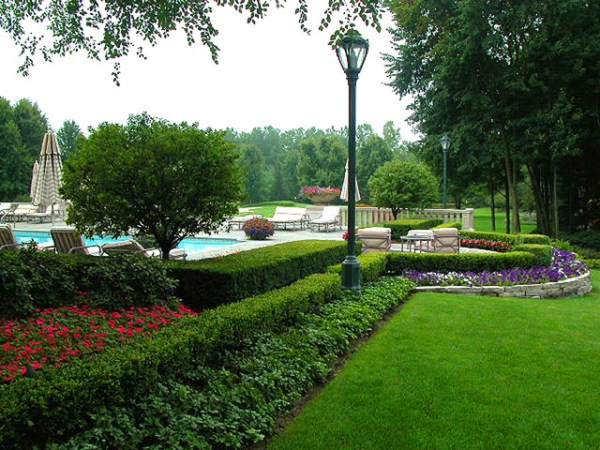 upscale residential estate landscape