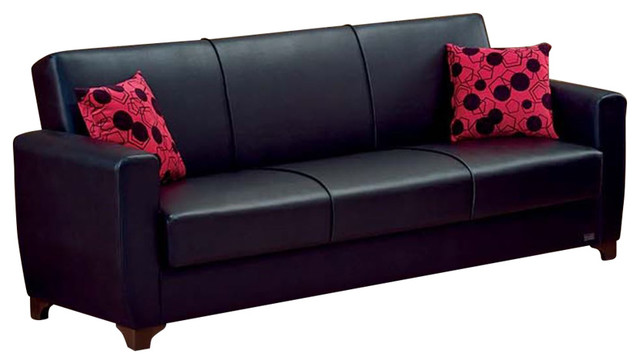 empire furniture sofa spot remover usa harlem modern convertible folding bed black transitional sleeper sofas by beyan signature