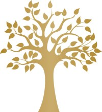 - Modern Golden Tree Wall Decal - View in Your Room! | Houzz