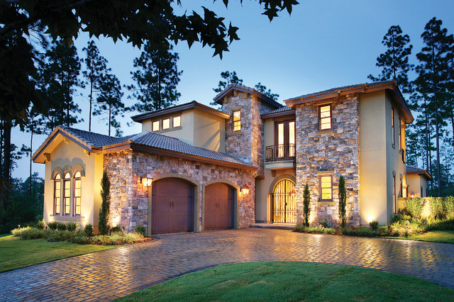 Sater Design Collections 6786 Ferretti Home Plan  Mediterranean  Exterior  by Sater Design