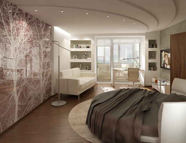 Interior Photographic Glass Walls Modern Bedroom Vancouver