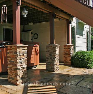 Faux Stone Columns Post Wraps Column Wraps