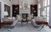 Champagne & Grey Elegant Living Room - Transitional ...