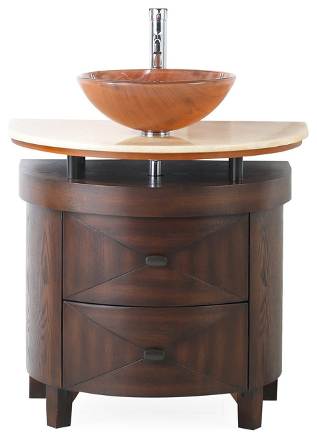 32 Verdana Vessel Sink Small Bathroom Vanity Transitional Bathroom Vanities And Sink Consoles By Chans Furniture