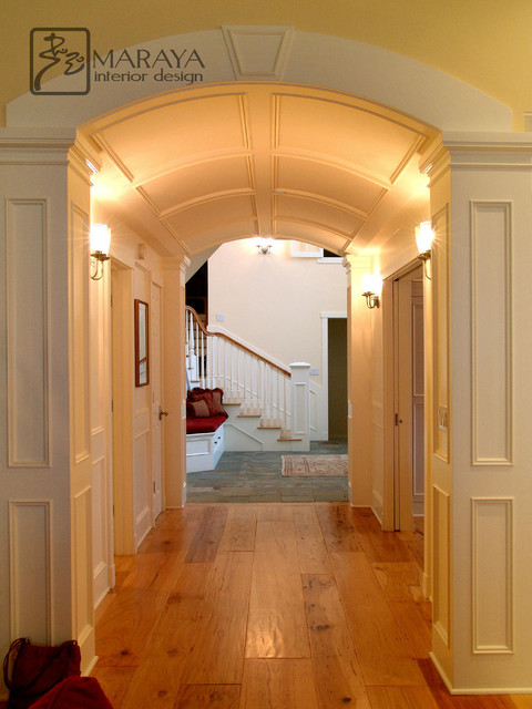 cape cod chairs wheelchair hire bali barrel vault paneled arched hallway - traditional hall los angeles by maraya interior design