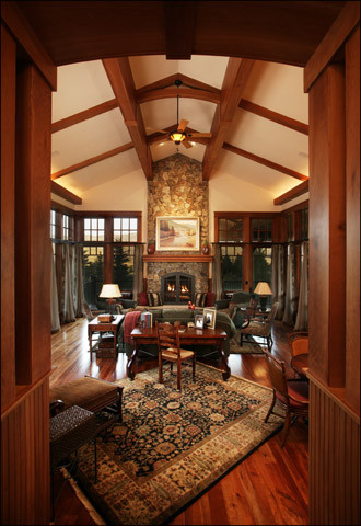 Mountain Arts and Crafts living room  Traditional  Living Room  Denver  by Lynne Barton Bier