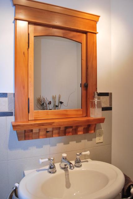 BuiltIn Custom Wood Medicine Cabinet  Craftsman  Makeup