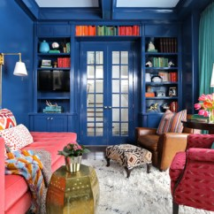 Eclectic Living Room Decor Ideas With Dark Gray Sofa 11 Tardis-blue Home For Hardcore Who Fans