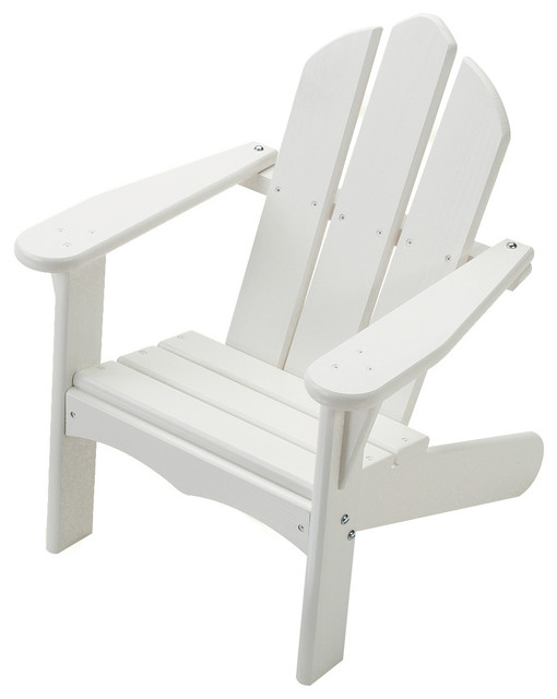 Childs Adirondack Chair White Finish Pink Font Z
