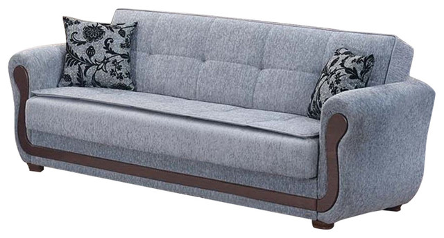 empire furniture sofa gray linen bed usa surf avenue tufted large folding sleeper and