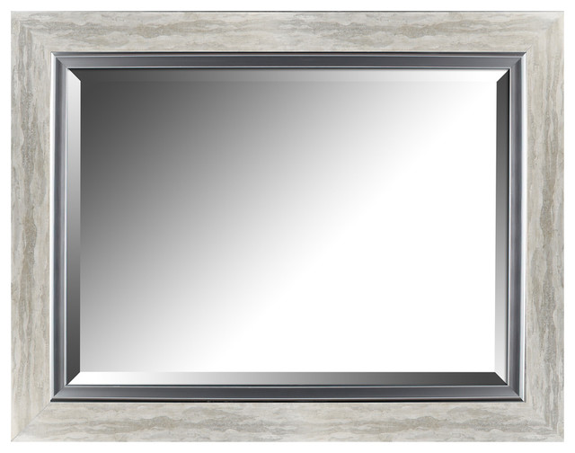 """Hobbitholeco 27.25""""x35.25"""" Silver Leaf Gradient Frame With"""