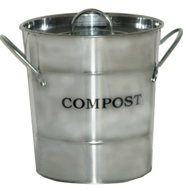 Kitchen Compost Bucket Contemporary Ice Tools Buckets