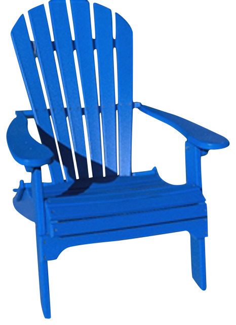 phat tommy folding recycled poly adirondack patio chair marina blue