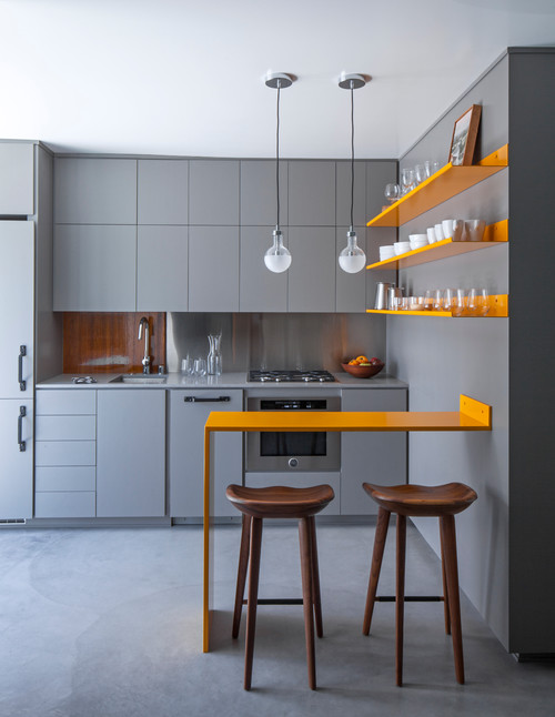 Apart from blending into your single wall kitchen area, they also make less noise — a critical aspect of an open kitchen area.