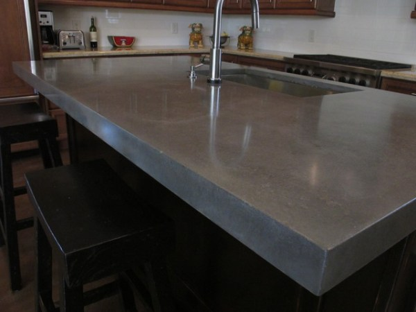 concrete kitchen island Raw Concrete Look - Kitchen Island