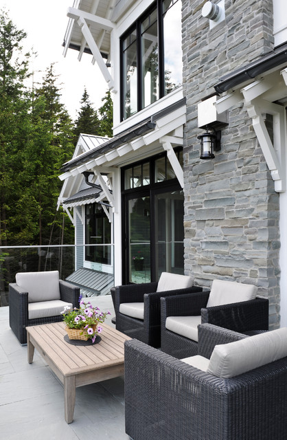 black and off white living room ideas cottage style bowen house 1 - transitional patio vancouver by eyco ...