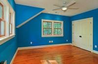 Bright blue bedroom walls