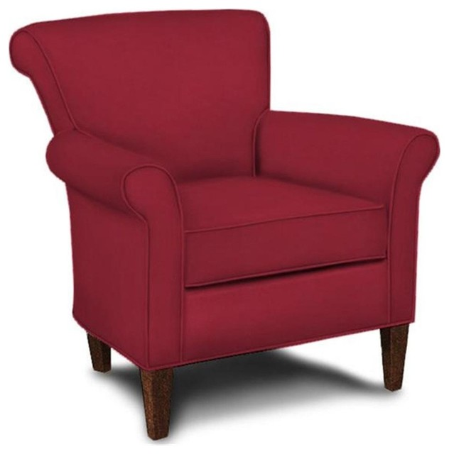 Contemporary Chair in Blaze Red  Contemporary  Armchairs