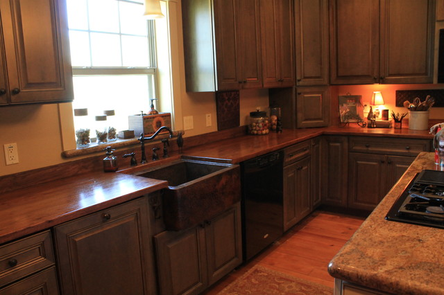 Copper Sink and Countertops