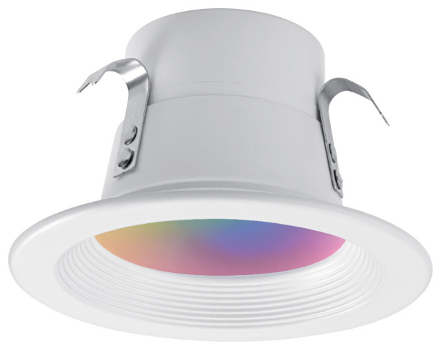 wi fi smart 4 led multicolor changing rgb tunable retrofit recessed light gu10