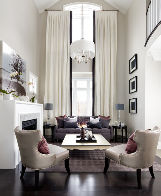 Jane Lockhart Interior Design Transitional Living Room Toronto
