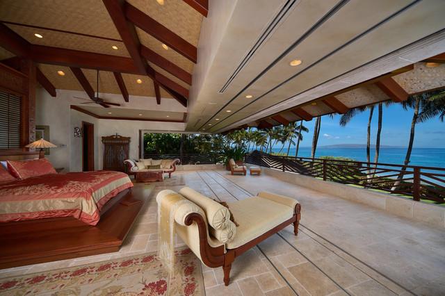Bali House  Tropical  Bedroom  hawaii  by Rick Ryniak