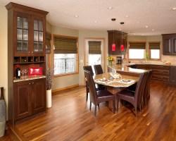 Walnut hardwood floor in kitchen   Contemporary   Kitchen ...
