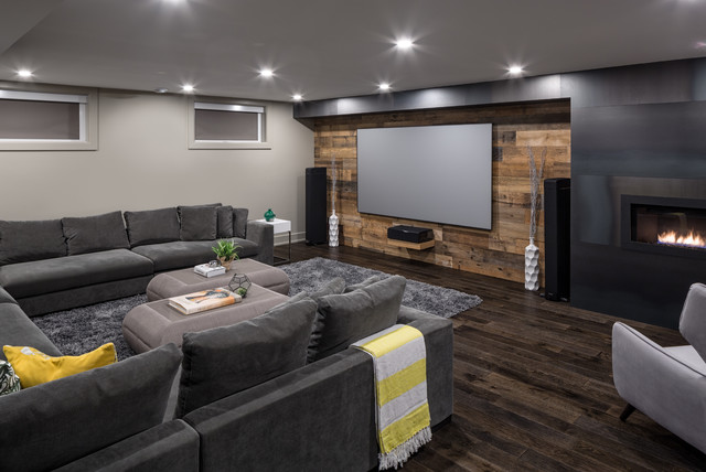 Spectacular Basement Retreat  Contemporary  Basement  Ottawa  by Just Basements