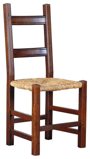 Umbria Side Chair With Straw Seat  Farmhouse  Dining