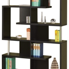 Images Of Living Rooms With Dark Brown Sofas Area Rugs Room Modern White/black Finish Bookcase W/ Compartments Chrome ...