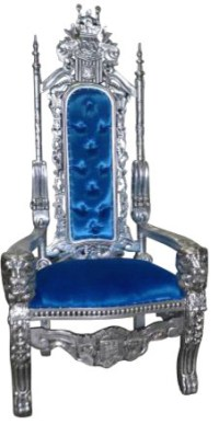 Royal King and Queen Gothic Throne Chair, Blue - Armchairs ...