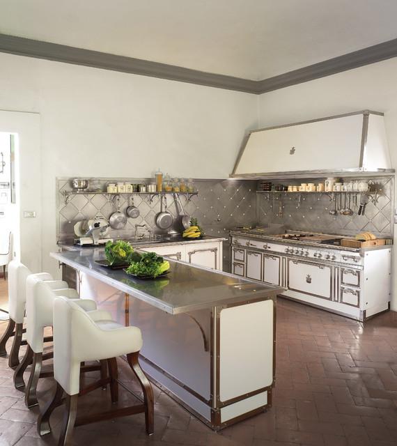 California Style Kitchen  Victorian  Kitchen  Miami  by Officine Gullo USA
