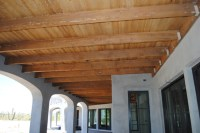 Exposed ceiling with rustic beams - Traditional - Phoenix ...