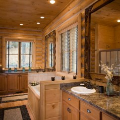 Styling Chairs For Sale Chaise Lounge Chair Covers Bathrooms In Rustic Round Log Home - Eclectic Bathroom Atlanta By Sisson Dupont & Carder