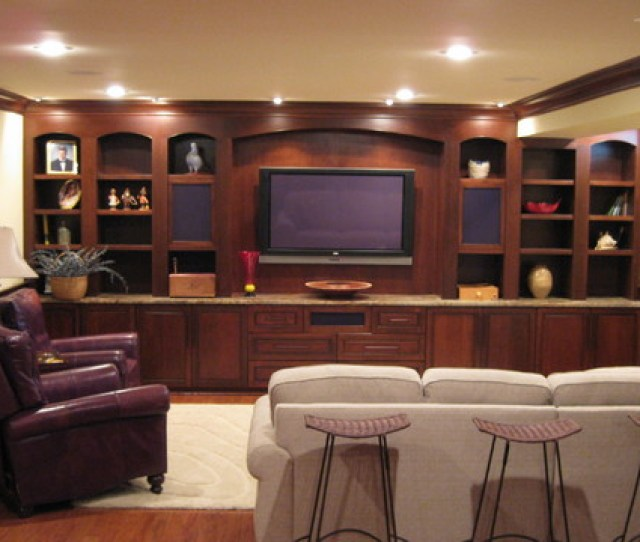 Custom Home Entertainment Center And Cabinetry At Basementtraditional Home Theater Dc Metro