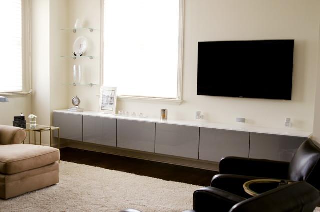 microfiber sofas country style sofa sleek media center storage - contemporary living room ...