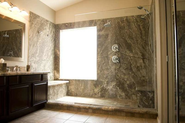 houston office chairs cheap recliner silver travertine shower - contemporary bathroom by forza stone building solutions ...