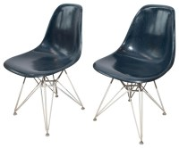 Pair of Eames for Herman Miller Fiberglass Chairs - Modern ...