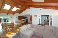 interior of our red brick ranch - vaulted ceilings