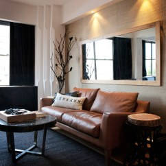 Black Leather Couch Living Room Design Pictures Of Beautiful Small Rooms Potts Point 1 Bedroom Contemporary Sydney By