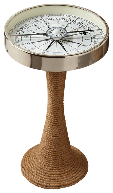 nantucket beach chair company eames time life two's - working compass accent table with rope base & reviews | houzz