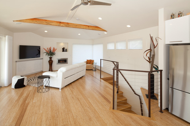 Bamboo Doors and Floors  Contemporary  Family Room  san