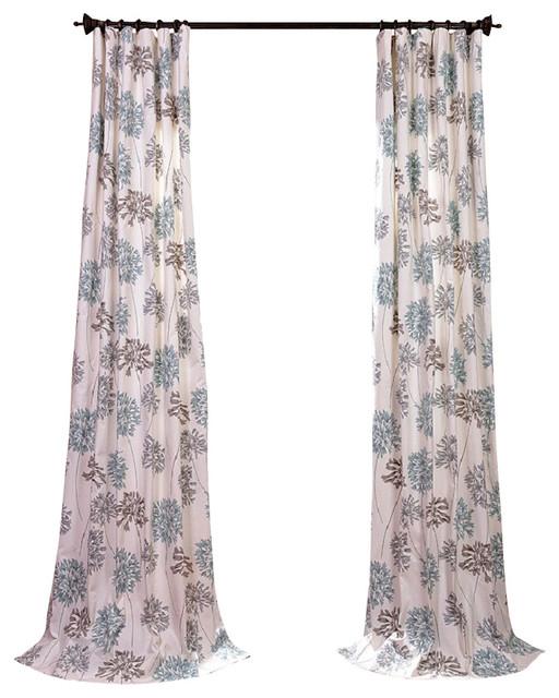 Exclusive Fabrics & Furnishings LLC Allium Blue Gray Printed