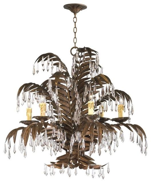 Cyan Design Largo Traditional 6 Light Chandelier Contemporary Chandeliers