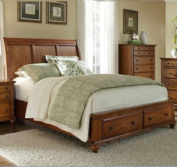 oak sleigh bedroom sets Broyhill Furniture - Hayden Place Queen Storage Sleigh Bed