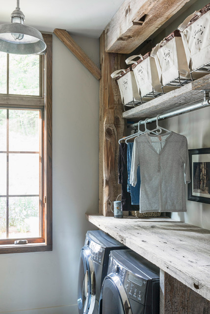 Beaucatcher Barn Home  Rustic  Laundry Room  Other  by Samsel Architects